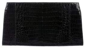 Nancy Gonzalez Slim Crocodile Clutch