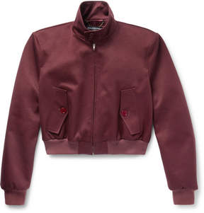 Balenciaga Slim-Fit Cropped Cotton-Blend Twill Harrington Jacket