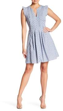 Cynthia Steffe CeCe by Flutter Sleeve Gingham Dress