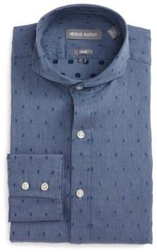 Michael Bastian Men's Trim Fit Dobby Dress Shirt