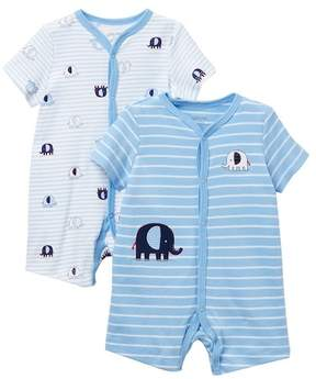 Little Me Elephant Rompers - 2-Piece Set (Baby Boys)