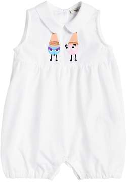 Fendi Ice Cream Cones Cotton Poplin Romper