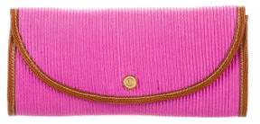Eric Javits Karung-Trimmed Clutch