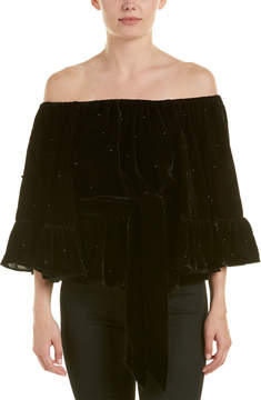 C/Meo Collective Allure Pearl Off-The-Shoulder Top