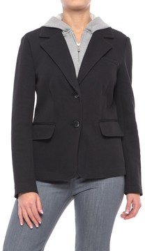 Chelsea & Theodore Knit Blazer with Removable Hooded Placket (For Women)