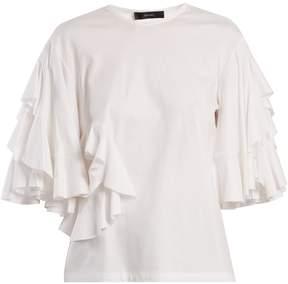Ellery Jeremiah ruffle-trimmed cotton-jersey T-shirt