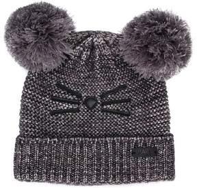 Karl Lagerfeld pompom knitted beanie hat