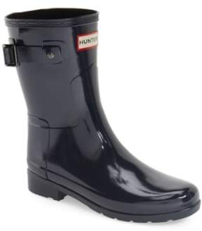Hunter 'Refined Short' Gloss Rain Boot