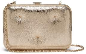 Anya Hindmarch Chubby Cracked Leather Clutch - Womens - Light Gold