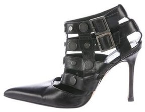 Versace Studded Pointed-Toe Cage Sandals
