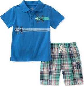 Kids Headquarters Little Boys 2-Pc. Graphic-Print Cotton Polo & Shorts Set
