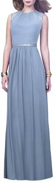 Dessy Collection Women's Embellished Open Back Gown