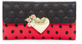 Betsey Johnson Faux Leather Trifold Wallet