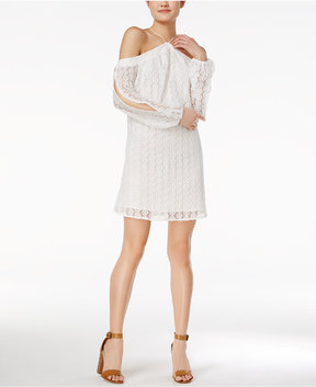 Bar III Off-The-Shoulder Lace Dress, Created for Macy's