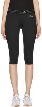 adidas by Stella McCartney Black Run Climacool Three-Quarter Leggings