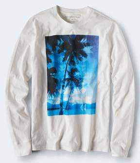 Aeropostale Long Sleeve Ocean Palms Graphic Tee