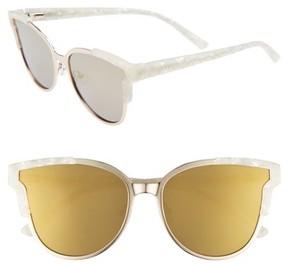 Ted Baker Women's 57Mm Flat Lens Cat Eye Sunglasses - Gold