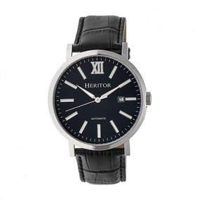 Heritor Bristol Mens Black Strap Watch-Herhr5306