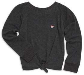 Spiritual Gangster Toddler's, Little Girl's& Girl's Tie Front Novelty Sweatshirt
