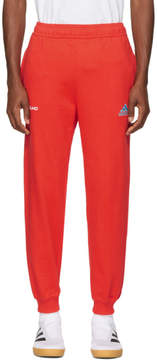 Gosha Rubchinskiy Red adidas Originals Edition Logo Lounge Pants