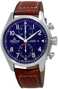 Alpina Startimer Pilot Navy Blue Dial Chronograph Automatic Men's Watch