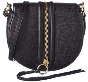 Rebecca Minkoff Mara Leather Saddle Bag. - BLACK - STYLE
