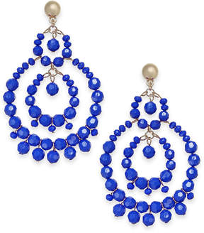 INC International Concepts I.n.c. Gold-Tone Beaded Drop Hoop Earrings, Created for Macy's