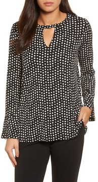 Chaus Women's Polka Dot Matte Jersey Top