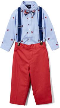 Izod Blue Lobster Button-Up Bodysuit Set - Newborn & Infant