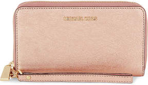 MICHAEL Michael Kors Glittered metallic zip-around purse - GOLD - STYLE