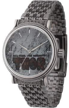 Marvel Comics Thor Men's' Antique Silver Alloy Vintage Watch, Antique Silver Stainless Steel Bracelet