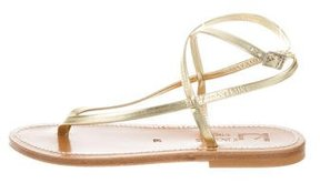 K Jacques St Tropez Delta Metallic Sandals w/ Tags