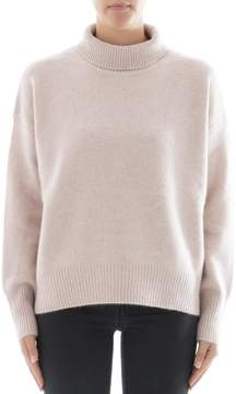 360 Sweater Pink Cachemire Turtleneck