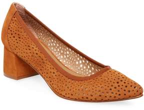 French Sole Women's Da Vinci Perforated Leather Pumps
