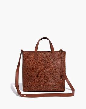 Madewell The Zip-Top Transport Crossbody in Spotted Calf Hair