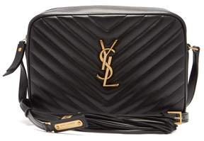 Saint Laurent Lou Quilted Leather Cross Body Bag - Womens - Black