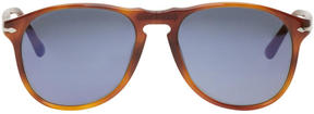 Persol Tortoiseshell Square Aviator Sunglasses