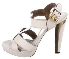 Barbara Bui L eather T-Strap Sandals