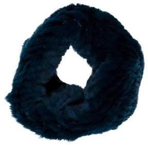 Tory Burch Teal Fur Snood w/ Tags
