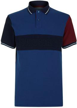 Hackett Logo Panel Polo Shirt