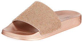 Neiman Marcus Doll Metallic Pool Slide Sandal