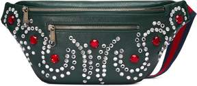 Gucci Leather belt bag with crystals