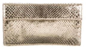 Nancy Gonzalez Metallic Python Clutch
