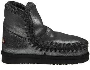 Mou eskimo 18 Boot Laminated Black Leather