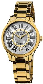 Akribos XXIV Akribos Diamond Gold-Tone Stainless Steel Ladies Watch
