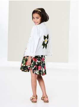 Oscar de la Renta Kids Kids | Jungle Flower Denim Jacket | 12 years