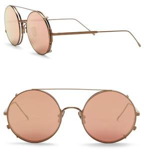 Cat Eye SUNDAY SOMEWHERE Valentine 53mm Round Aviator Sunglasses