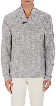 Barneys New York MEN'S CABLE-KNIT WOOL-CASHMERE SWEATER