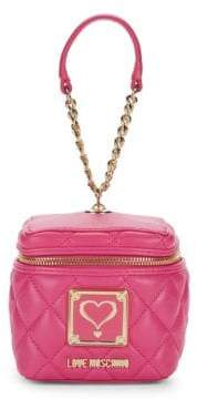Love Moschino Quilted Logo Wristlet