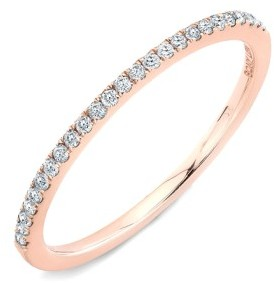 Bony Levy Women's 'Stackable' Straight Diamond Band Ring (Nordstrom Exclusive)